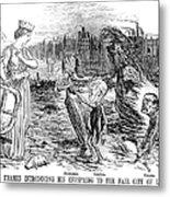 Cholera Cartoon, 1858 Metal Print