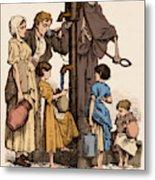 Cholera-infected Pump, 1854 Metal Print