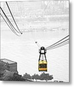 Chongqing Cable Car Metal Print