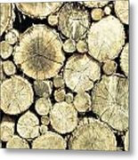 Chopped Wood Metal Print
