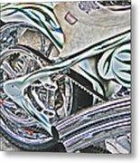 Chopper Belt Drive Detail Metal Print by Samuel Sheats
