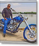 Chopper Motorcycle Metal Print