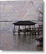 Chowan River Scene With Texture Metal Print