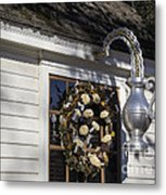 Chownings Tavern Wreath Metal Print