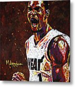 Chris Bosh Metal Print by Maria Arango