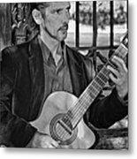 Chris Craig - New Orleans Musician Bw Metal Print