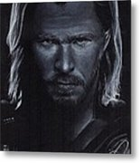 Chris Hemsworth Metal Print by Rosalinda Markle