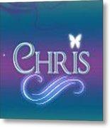 Chris Name Art Metal Print