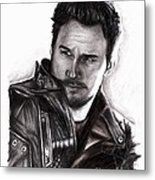 Chris Pratt 2 Metal Print