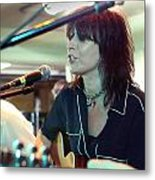 Chrissie Hynde Acoustic By Denise Dube Metal Print