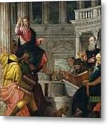 Christ Among The Doctors In The Temple Metal Print