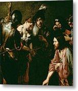 Christ And The Adulteress Metal Print