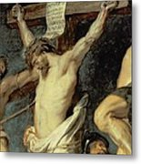 Christ Between The Two Thieves, 1620 Metal Print