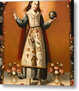 Christ Child With Passion Symbols Metal Print