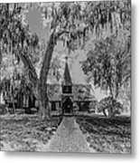 Christ Church Etching Metal Print by Debra and Dave Vanderlaan
