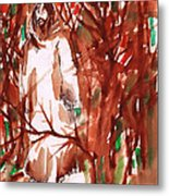 Christ In The Forest Metal Print