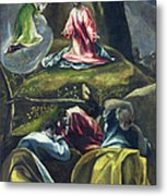 Christ In The Garden Of Olives Metal Print