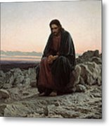 Christ In The Wilderness Metal Print