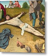 Christ Nailed To The Cross Metal Print