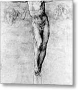 Christ On The Cross Metal Print by Michelangelo Buonarroti