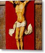 Christ On The Cross Metal Print