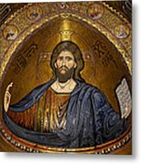 Christ Pantocrator Mosaic Metal Print by RicardMN Photography