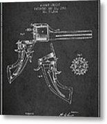 Christ Revolver Patent Drawing From 1866 - Dark Metal Print