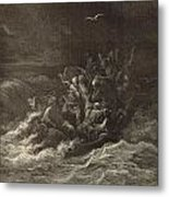 Christ Stilling The Tempest Metal Print
