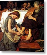 Christ Washing Peter's Feet Metal Print