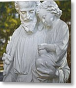 Christ With Child Metal Print