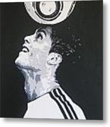 Christiano Ronaldo - Real Madrid Fc Metal Print