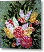 Christina's Bouquet Metal Print