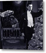 Christmas At Dracula's Metal Print