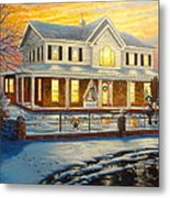 Christmas At The Hibbard's Metal Print
