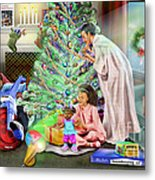Christmas Back In Da Day Metal Print