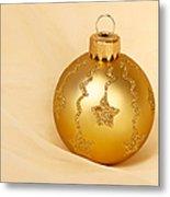 Christmas Ball Ornament Metal Print
