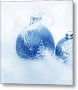 Christmas Balls Decoration Metal Print