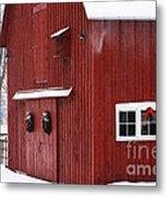 Christmas Barn 3 Metal Print