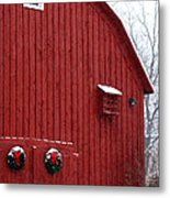 Christmas Barn 4 Metal Print