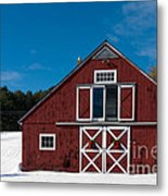 Christmas Barn Metal Print by Edward Fielding