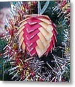Christmas Baubles Metal Print by Debra Piro