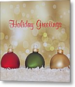 Christmas Baubles Metal Print