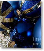 Christmas Blue Metal Print