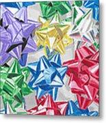 Christmas Bows Metal Print