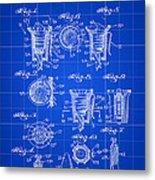Christmas Bulb Socket Patent 1936 - Blue Metal Print