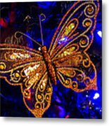 Christmas Butterfly Metal Print