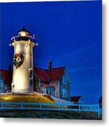 Christmas By The Sea Metal Print