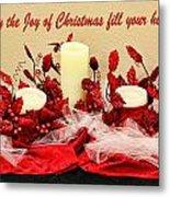 Christmas  Candels Metal Print
