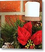 Christmas Candle Metal Print by Kenneth Sponsler