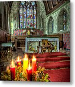 Christmas Candles Metal Print by Adrian Evans